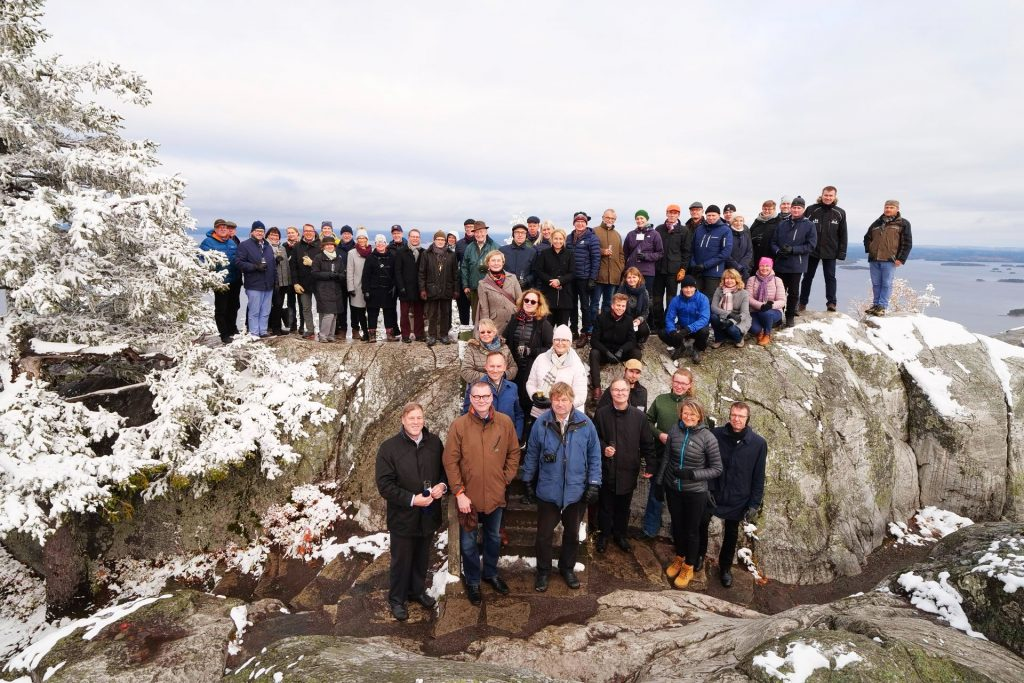 Group photo at the Koli Hill, Koli Forum 2019