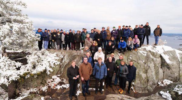 Group photo at the Koli Hill, Koli Forum 2019